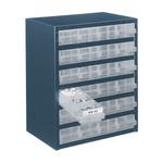 Raaco 24 Drawer Storage Unit, Steel, 435mm x 357mm x 255mm, Blue