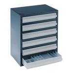 Raaco 6 Drawer Storage Unit, Steel, 435mm x 357mm x 255mm, Blue