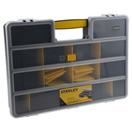 Stanley 25 Cell Grey, Transparent PP, Adjustable Compartment Box, 81mm x 457mm x 330mm