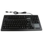Cherry Touchpad Keyboard Wired USB Compact, Ergonomic, QWERTY (US) Black