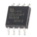 AMIC Technology 8Mbit SPI Flash Memory 8-Pin SOP, A25L080M-F