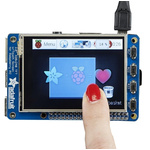 ADAFRUIT INDUSTRIES, PiTFT Plus with 2.8in Resistive Touch Screen