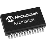 ATM90E26-YU-R, Analogue Front End IC, 3-Channel 16 bit, 8kHz, 28-Pin SSOP