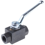 Parker Phosphated Steel Line Mounting Hydraulic Ball Valve, KH1/2CFX G 1/2