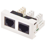 RS PRO Double Gang 2 Way Female RJ12 Faceplate