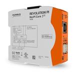 Kunbus RevPi Core 3+, Industrial Computer, 10W, 1.2 GHz Quad-Core, BCM2837 1.2 GHz, 1 GB (RAM), 16 GB (Flash), 4 Linux