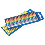 HellermannTyton Clip On Cable Marker Kit WIC, 4.3 → 5.3mm, 1500 Markers