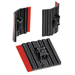 HellermannTyton Self Adhesive Black Cable Tie Mount 28 mm x 28mm, 5.4mm Max. Cable Tie Width