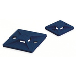 HellermannTyton Blue Cable Tie Mount 28 mm x 28mm, 5.4mm Max. Cable Tie Width