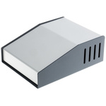 Hammond 515, Sloped Front, Aluminium, Steel, 159 x 117 x 58mm Desktop Enclosure, Grey
