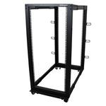 25U Server Rack With Steel 4-Post Frame in Black