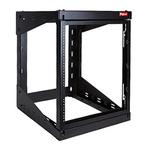 VersaRack 12U Server Rack With Steel 4-Post Frame in Black