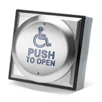 """4"""" Exit Button with Wheelchair and Push"""