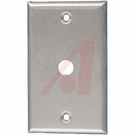 BNC, TNC Silver 2 Outlet Wall Plate Module, Wall Mount