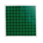 RS PRO Black/Green Vinyl Safety Labels, Symbol-Text 12.5 mm x 12.5mm