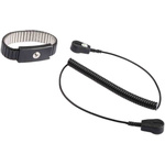 RS PRO 4 mm, 10 mm Stud ESD Grounding Wrist Strap & Cord Set 1.8m Length Cord
