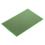 RE212-LF, Single Sided Eurocard PCB FR4 With 38 x 61 1mm Holes, 2.54 x 2.54mm Pitch, 160.15 x 100.2mm