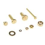 RS PRO Brass 2061 Piece Slot Drive Screw/Bolt, Nut & Washer Kit