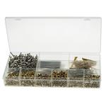 RS PRO Brass 1250 Piece Slot Drive Screw/Bolt, Nut & Washer Kit