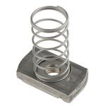 Unistrut Channel Nut, M8, Nut Base Dimensions 41 x 41mm, Stainless Steel, 0.03kg