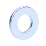 Bright Zinc Plated Steel Plain Washer, 1.6mm Thickness, M8