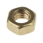 RS PRO Brass Hex Nut, Plain, M6