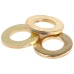 Brass Plain Washer, 1mm Thickness, M5