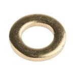 Brass Plain Washer, 1.6mm Thickness, M6