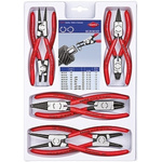 Knipex Chrome Vanadium Steel Snap Ring Pliers Plier Set, 12 in Overall Length