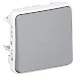 10 A Surface Mount Button Light Switch, 2 Way, 250 V ac IP55, Plexo
