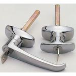 Euro-Locks a Lowe & Fletcher group Company Chrome Plated Silver Lock, L-Handle