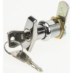 Euro-Locks a Lowe & Fletcher group Company Chrome Plated Silver Lock, Mini Handle, 40mm