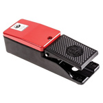 606 Series Emergency Stop Foot Switch without Cover, 1 Pedal, Momentary Contacts, NO/NC