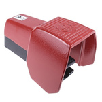 606 Series Emergency Stop Foot Switch with Cover, 1 Pedal, Momentary Contacts, NO/NC