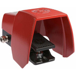 616 Series Emergency Stop Foot Switch with Cover, 1 Pedal, Momentary Contacts, 2NO/1NC