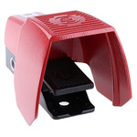 606 Series Emergency Stop Foot Switch with Cover, 1 Pedal, Momentary Contacts, 2NO/2NC