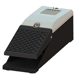 SIRIUS 3SE2 Series Emergency Stop Foot Switch without Cover, 1 Pedal, Momentary Contacts, NO/NC
