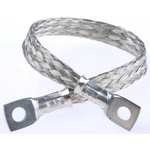 RS PRO Braided Earth Lead, M5 Stud Size, 0.2 (Dia.) mm, 200mm BS EN 13602:2002, BS4109