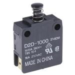 IP40 Door Interlock Micro Switch Plunger, SP-NO/NC 16 A @ 250 V ac, -25 → +85°C