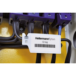 HellermannTyton Natural, White Nylon 66 Cable Tie with Tag160mm x 3.6mm