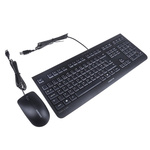 Cherry Keyboard and Mouse Set Wired QWERTY Black