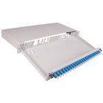 Huber & Suhner 24 Port LC Single Mode Simplex Fibre Optic Patch Panel, 1U