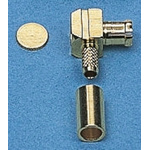 IMS 50Ω Right Angle Cable Mount MCX Connector, Plug