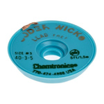 Chemtronics 1.5m Lead Free Desoldering Braid, Width 2mm
