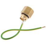 MK Electric Earthing Lead Adapter Brass