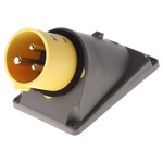 Legrand 16A Yellow 3 Pole Plastic Industrial Power Socket, IP44