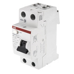 ABB 2 Pole Type AC Residual Current Circuit Breaker, 40A FH200, 30mA