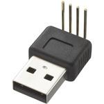 CIE, CLB-JL USB Connector, Through Hole, Plug A A, Solder- Single Port