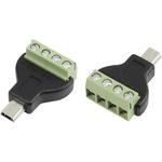 CIE, CLB-JL USB Connector, Cable Mount, Plug Mini B, Solder