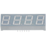 CA56-11SYKWA Kingbright 4 Digit 7-Segment LED Display, CA Yellow 120 mcd RH DP 14.2mm